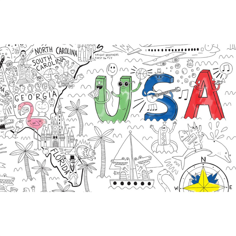 china custom wall size coloring poster for school kids photos