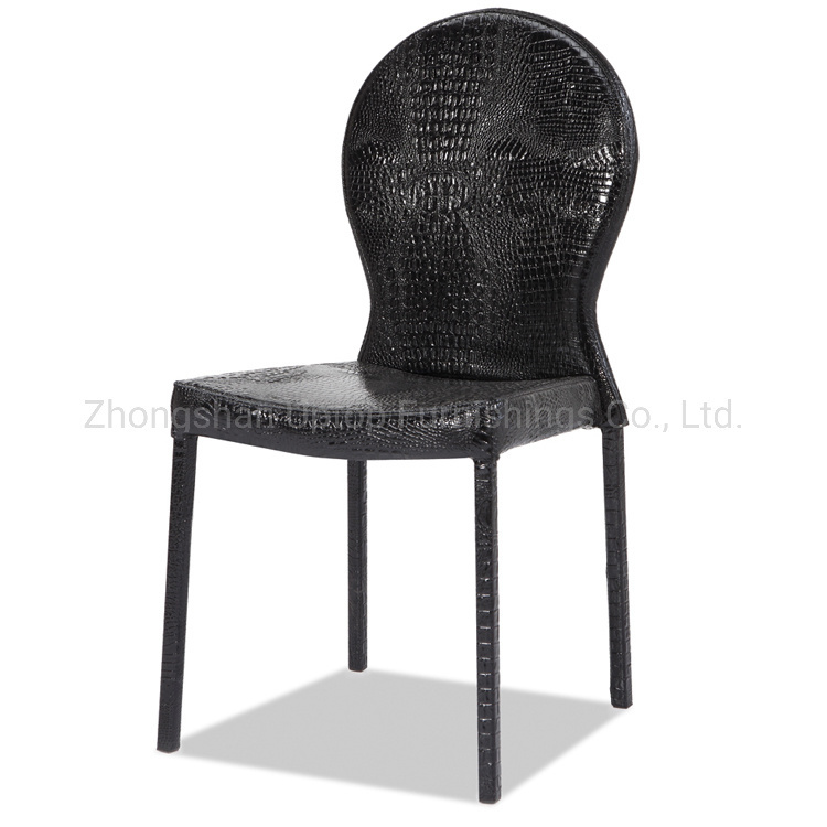 Amazing Hot Item Hospitality Furniture Black Crocodile Leather Dining Chair Sp Lc278 Creativecarmelina Interior Chair Design Creativecarmelinacom