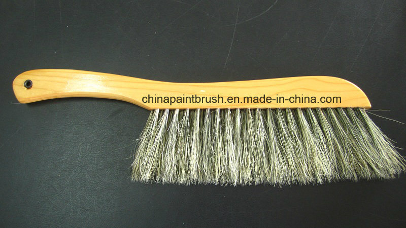 China natural horse hair brush with wooden handle for good - Natural horse hair interior upholstery brush ...