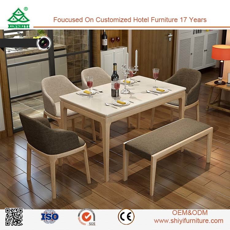Eco Friendly Dining Room Furniture Made In China Wooden Leather Chair Set