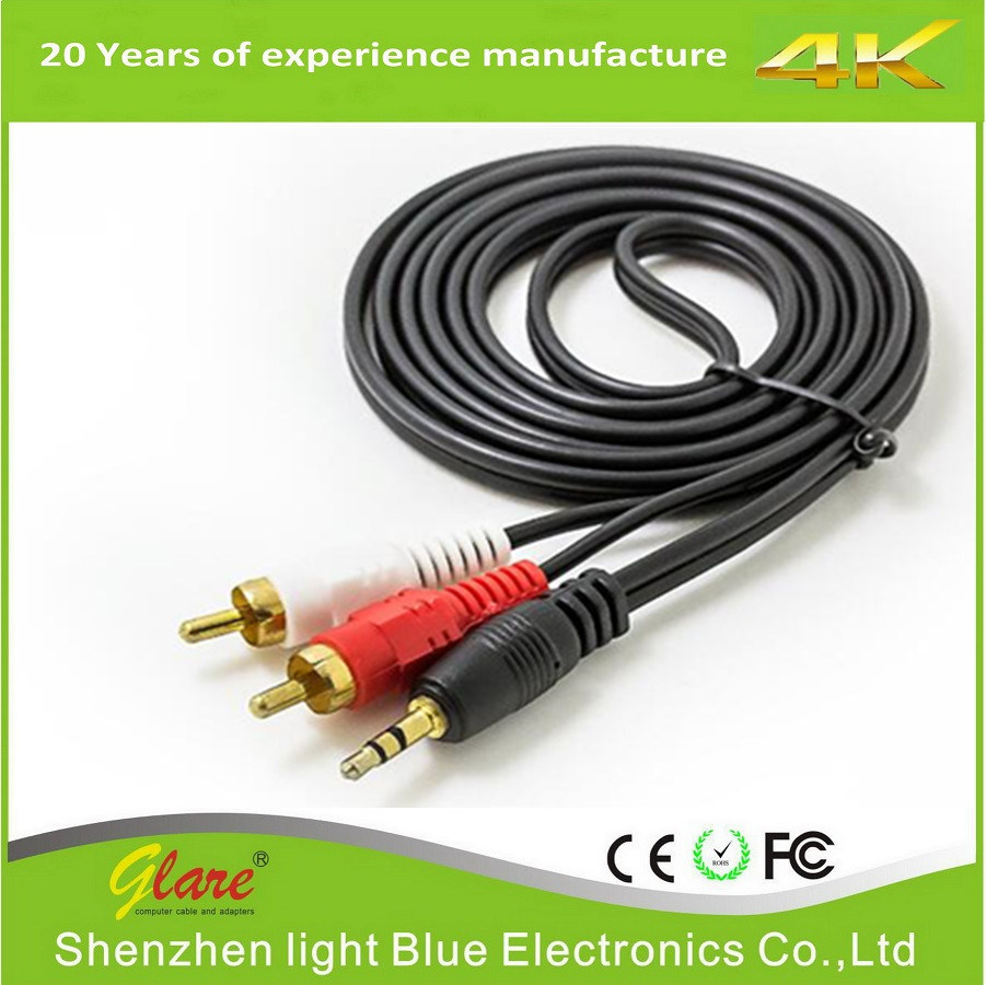 China High Speed Component Video Cable 3 RCA to 3 RCA Cable - China ...
