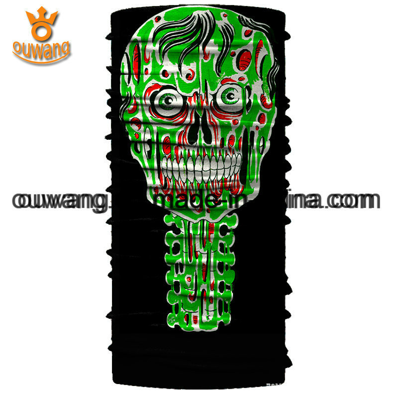 Design Your Own Magic Multifunctional Seamless Black Skull Sports Bandanas pictures & photos