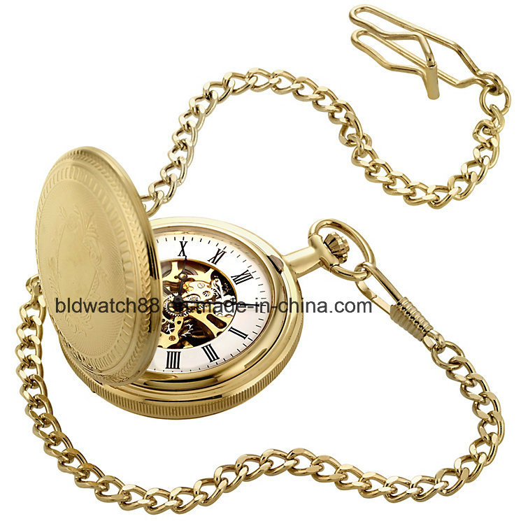 d9b17d292 China Custom Gold Tone Men′s Double Opening Hunter Pocket Watch Chain -  China Pocket Watch, Gold Pocket Watch