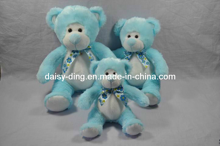 3 Asst Plush Sitting Bear with New Material