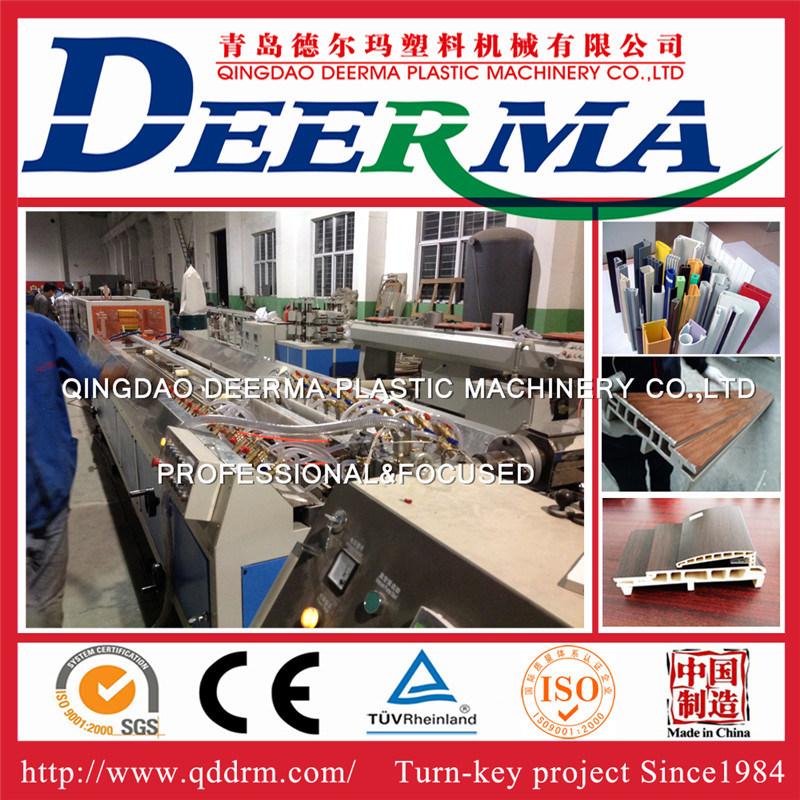 China Wood Plastic Composite Door Frame Machine/WPC Door Frame ...