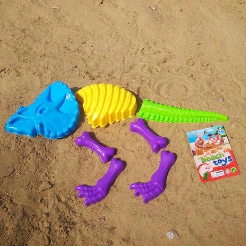 [Hot Item] 7PCS Dinosaur Bone Shape Beach Tool to Play Sand Toy Set