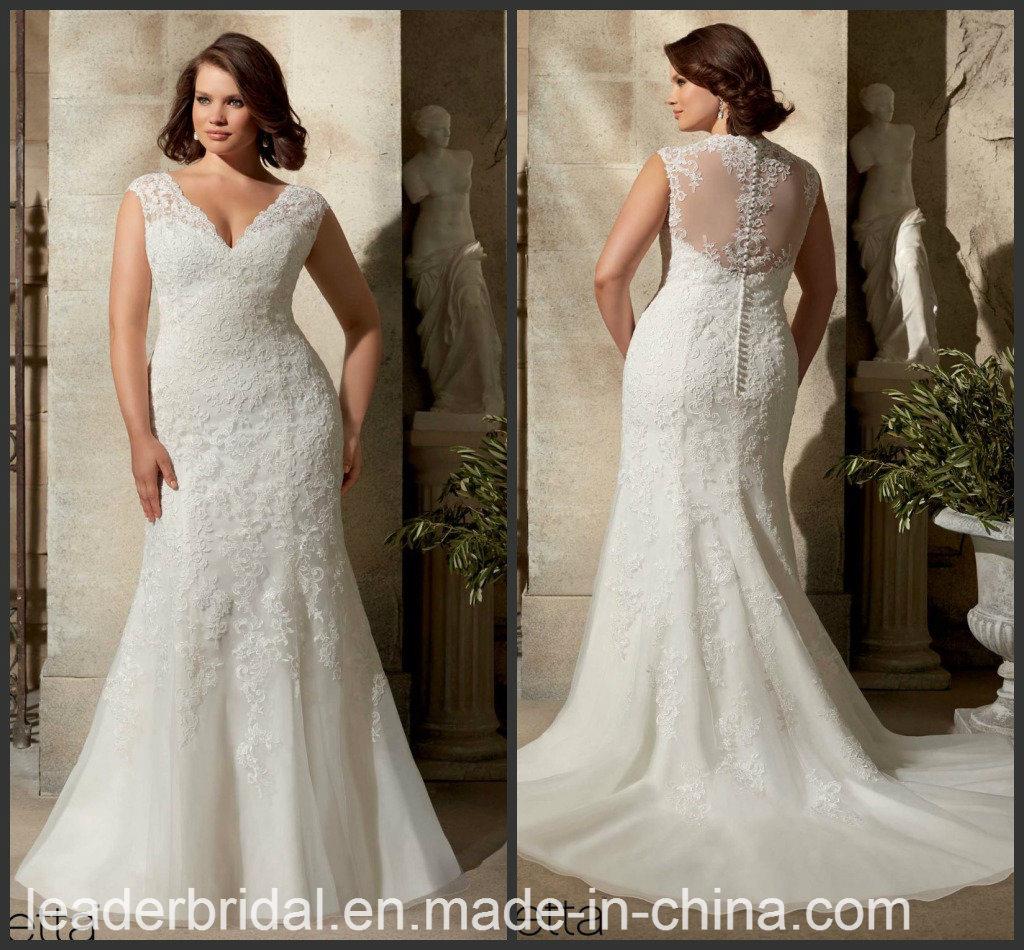 China Plus Size Sheath Bridal Wedding Dress Corset Tulle ...
