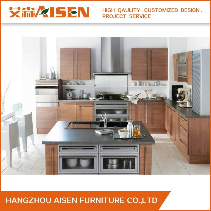 Modern Kitchen Furniture Wholesale Custom Melamine Kitchen Cabinet pictures & photos