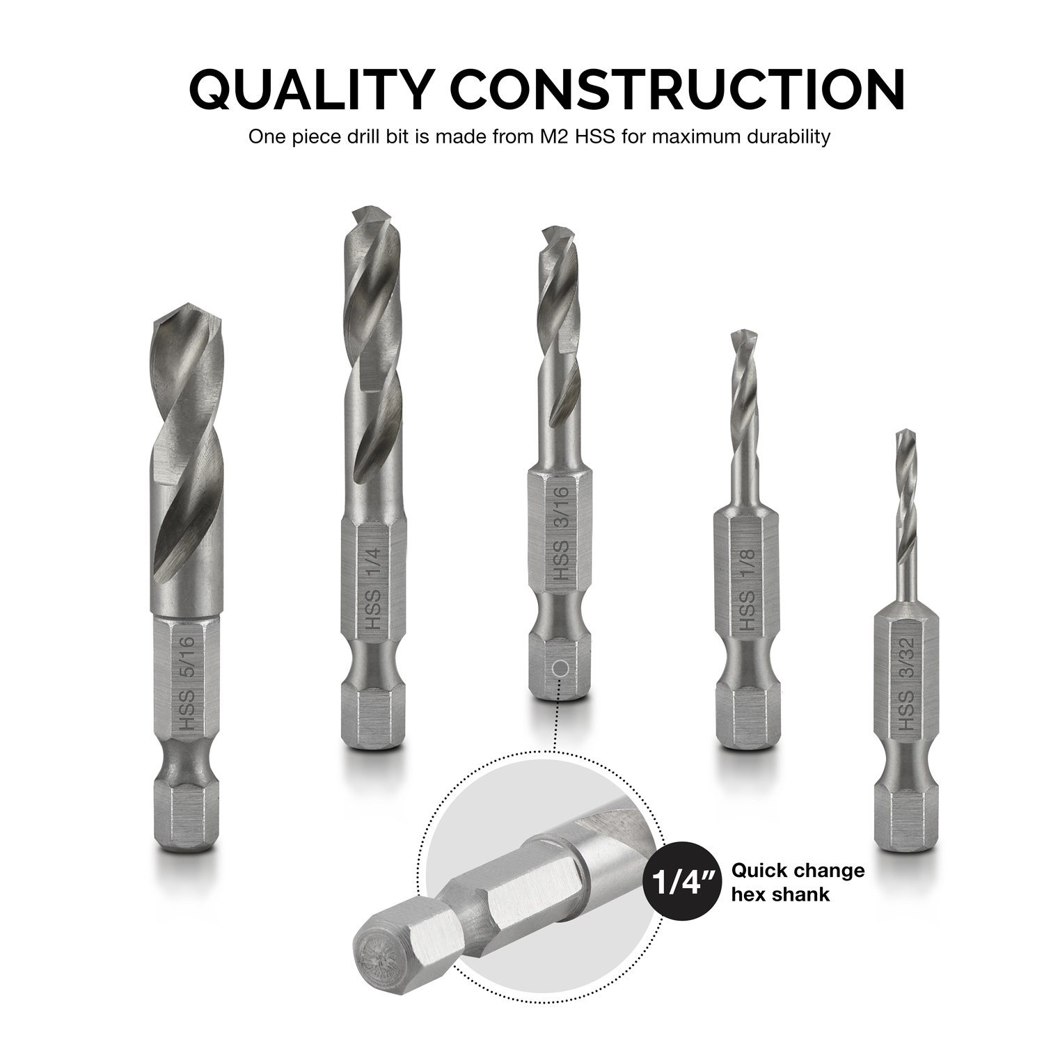 China 5piece Hss Steel Stubby Hex Shank For Metal Drill Bit Set Drill Bit Drill Bits China Drill Bits Drill Bit