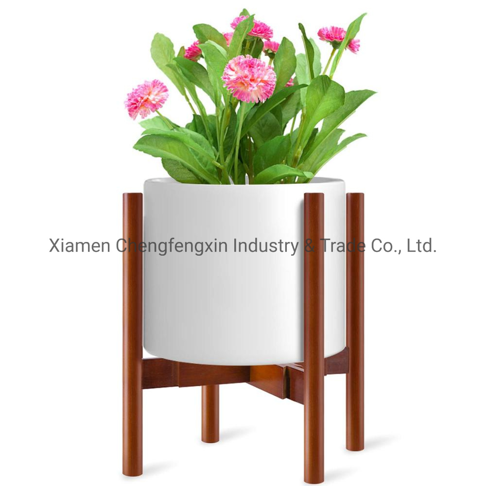 China Adjustable Plant Stand Midcentury Wood Flower Pot Holder China Flower Stand Flower Holder