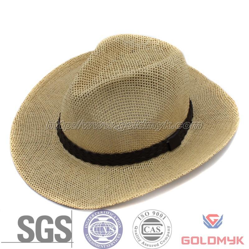 China Paper Straw Cowboy Hat for Man (GKA03-A00005) - China Paper Cowboy Hat abda7572c16