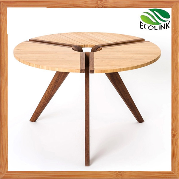 Hot Item New Designer Small Round Coffee Table With Bamboo