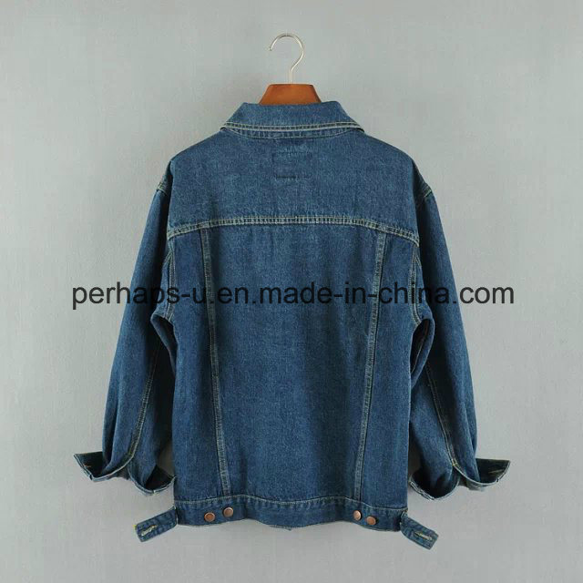 Fashion Wild Ladies Cardigan Denim Jacket with Bf Style pictures & photos