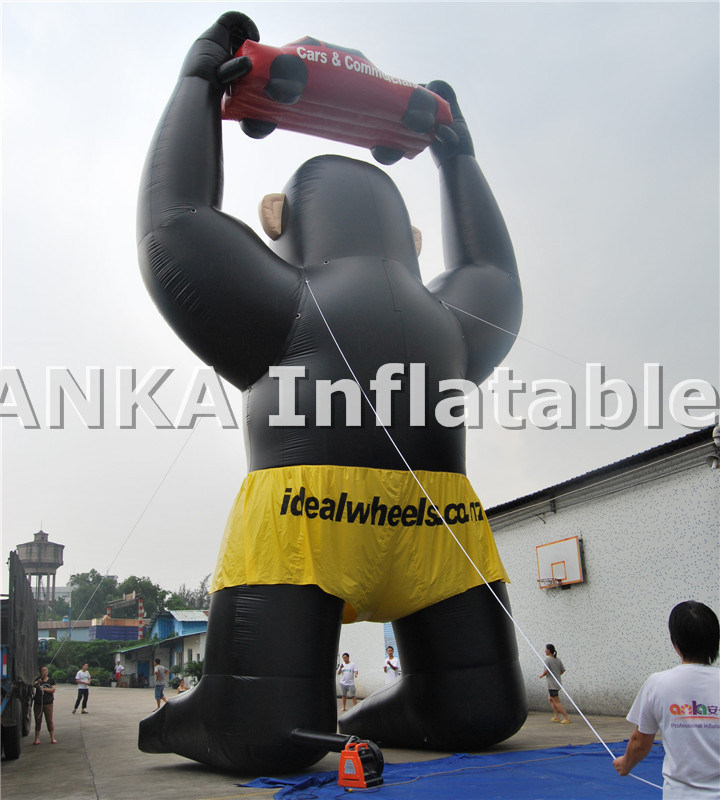 Inflatable Advertising Lively Replica Gorilla