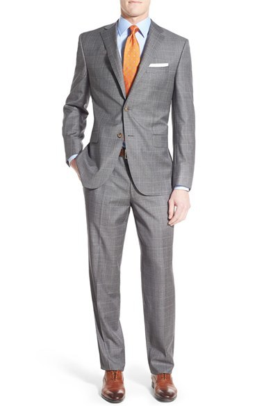 OEM Classic Fit Men′s Windowpane Business Suits
