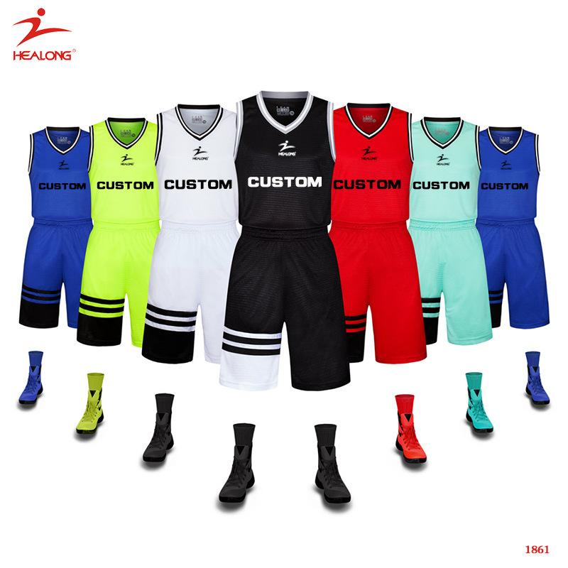 Custom Any Color Sublimation Basketball Uniform Design Template Jersey