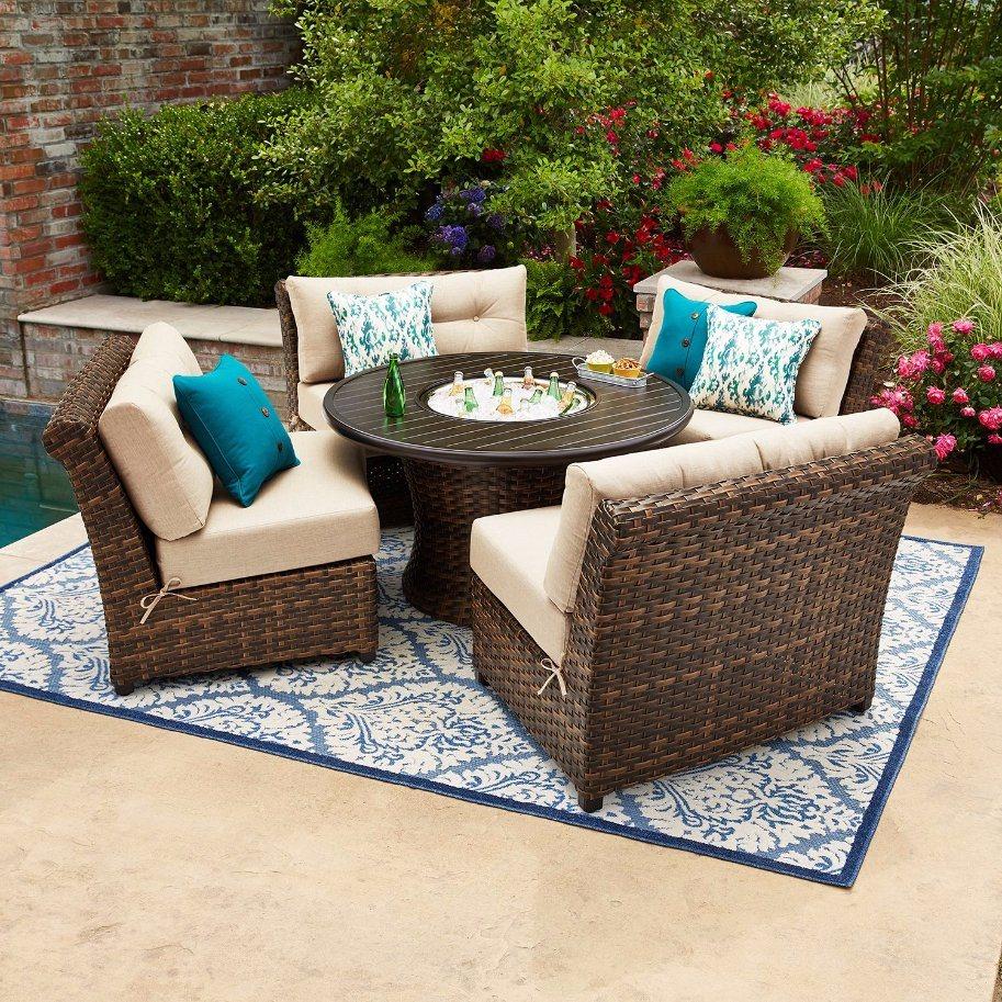 Outdoor Furniture Sunbrella Seating Set
