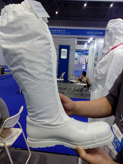 China Autoclavable Cleanroom Steel Cap Safety Boots