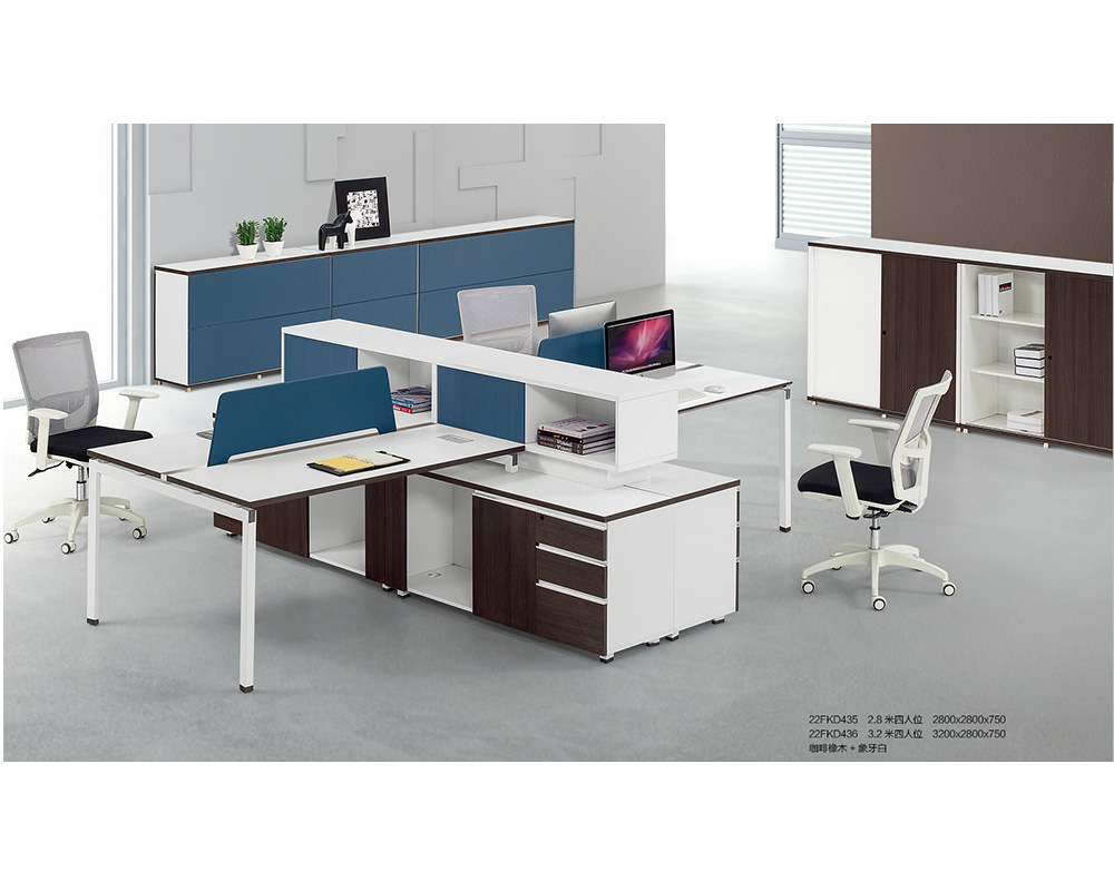 China 3 2m 4 Person Steel Leg Staff Desk Table Office Partition Workstation