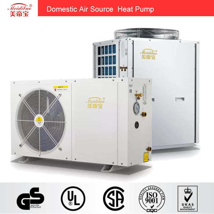 9kw Domestic Evi Air Source Heat Pump for House Heating/Hot Water