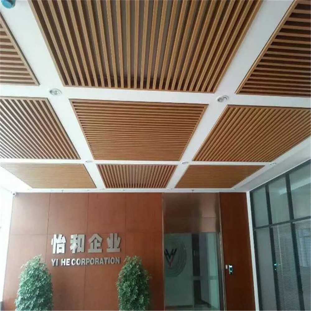 China Ecological Wood Plastic Composite Profile Wpc Ceiling Decortaion Materials