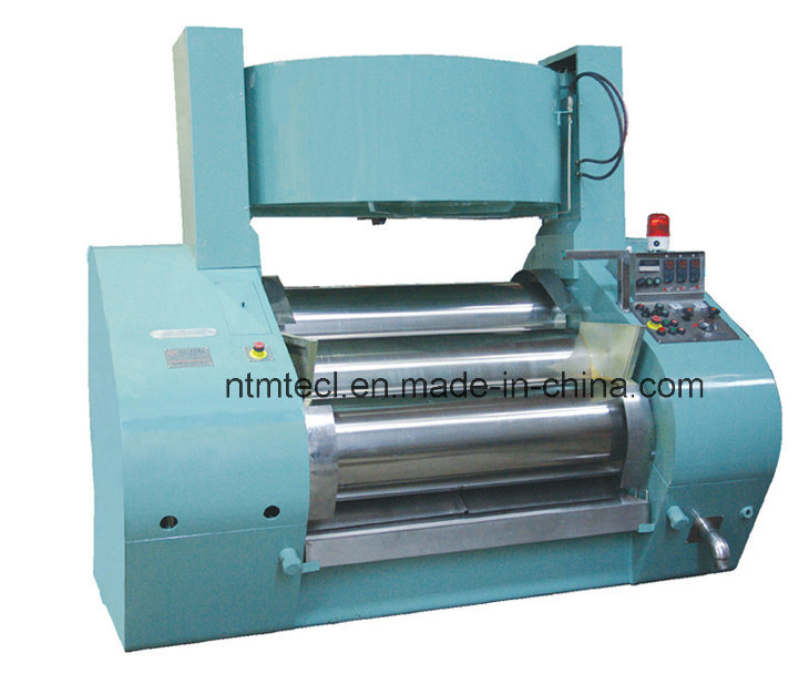 Hydraulic Triple Roller Mill with Water Cooling for Ink, Sliver Paste, Leads Wet Grinding with Three Super Hard Alloy Roll