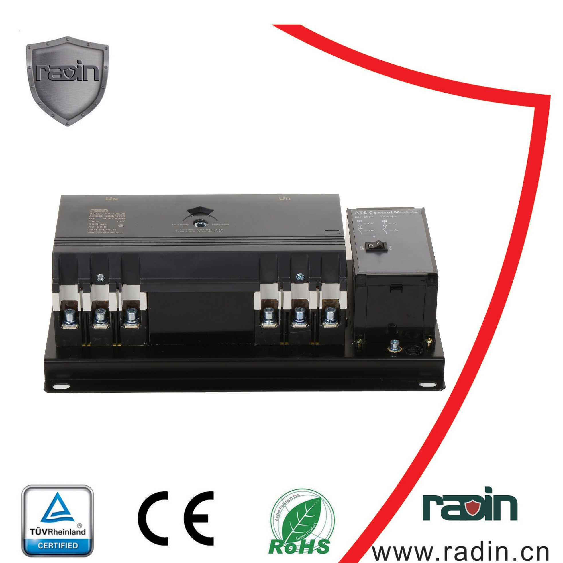 China Dual Power Automatic Transfer Switch (RDQ3CMA-100) , ATS ...
