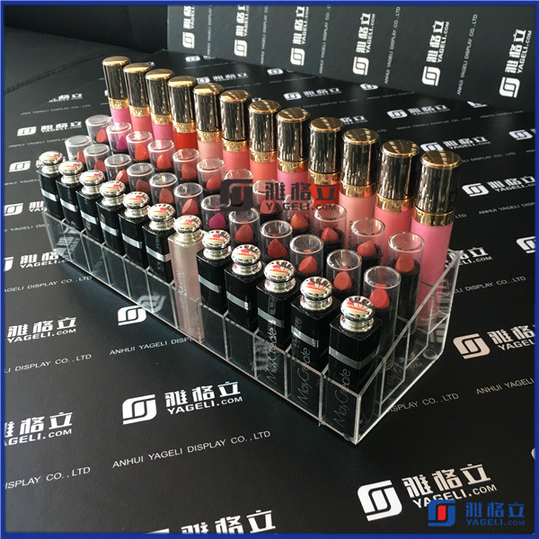 China Clear Acrylic Step-Tiered 36 Lipstick Organizer Rack