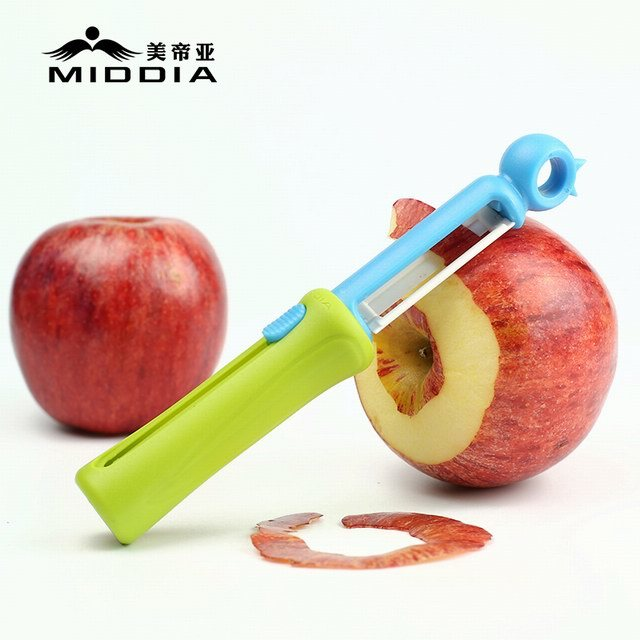 Kitchen Gadget Multifunction Easy Grip Ceramic Retractable Julienne Peeler pictures & photos