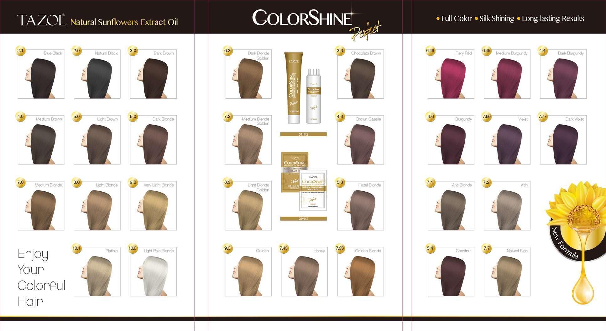 China Tazol Hair Care Colorshine Hair Dye Burgundy 50ml50ml