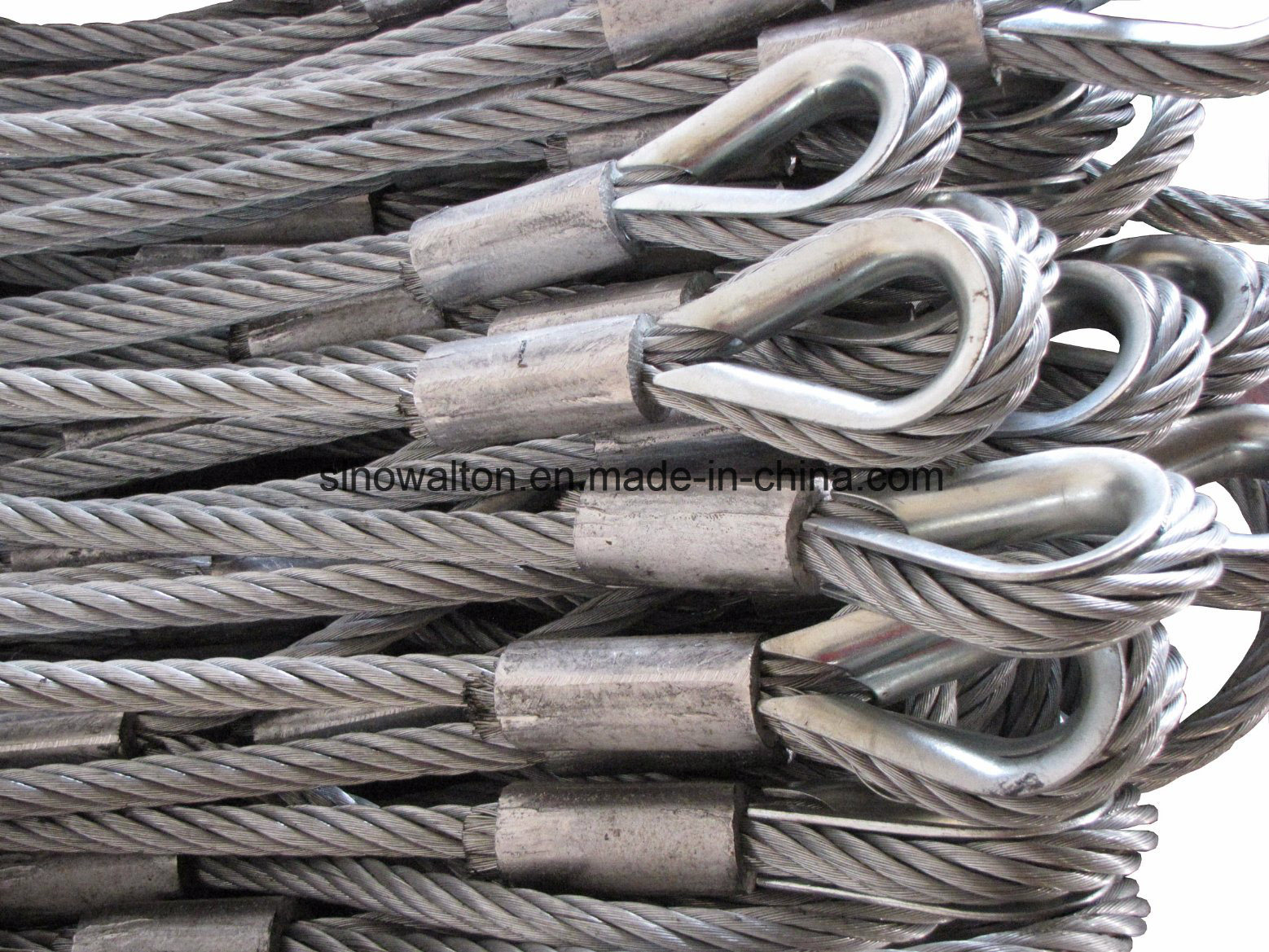 China Galvanized Wire Rope Tool / 18 MM Steel Rope Lifting Slings ...
