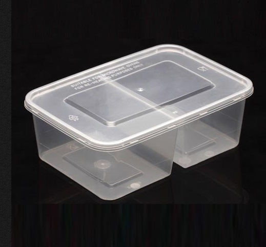 China 2 Compartment Microwave Safe Plastic Food Container