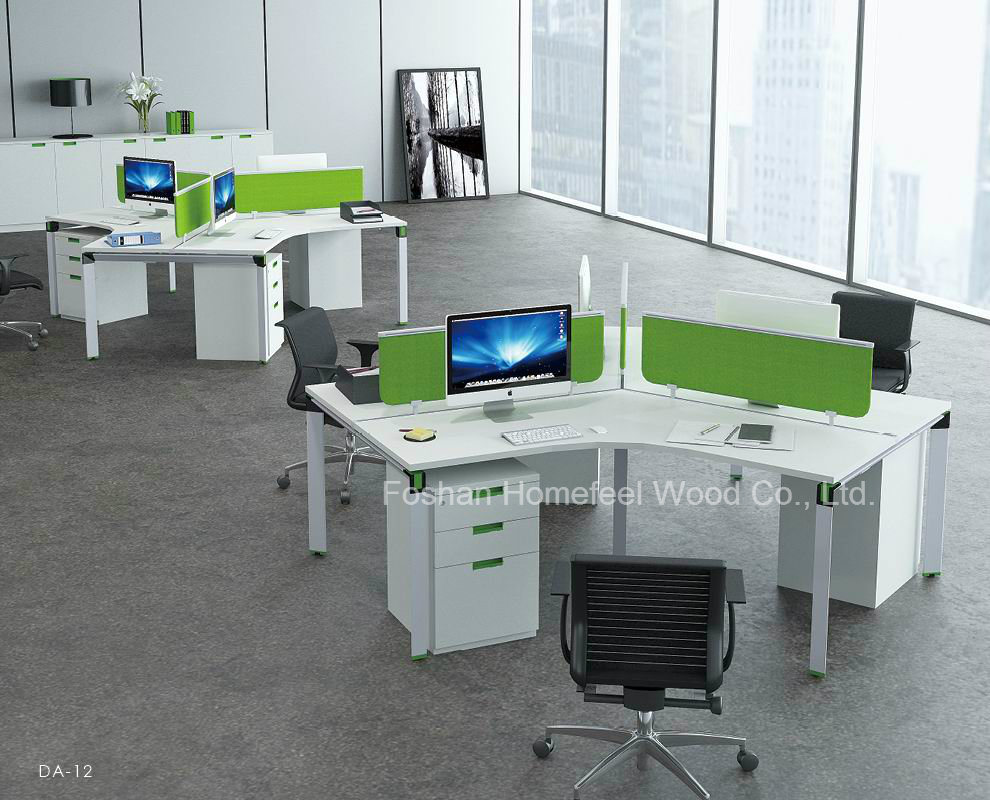 China contemporary small modular office cubicle 120 degree for Modern warehouse designs examples