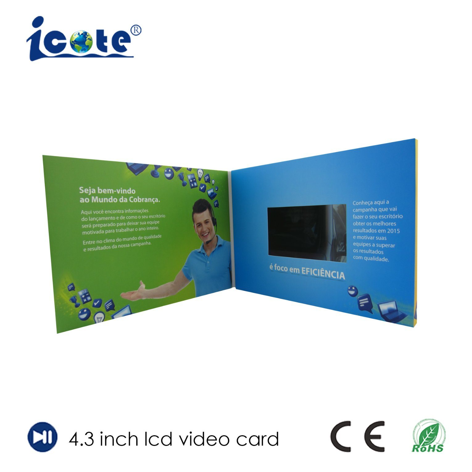 China 43 Inch Tft Screen Lcd Video Greeting Cards Video Cards Bulk