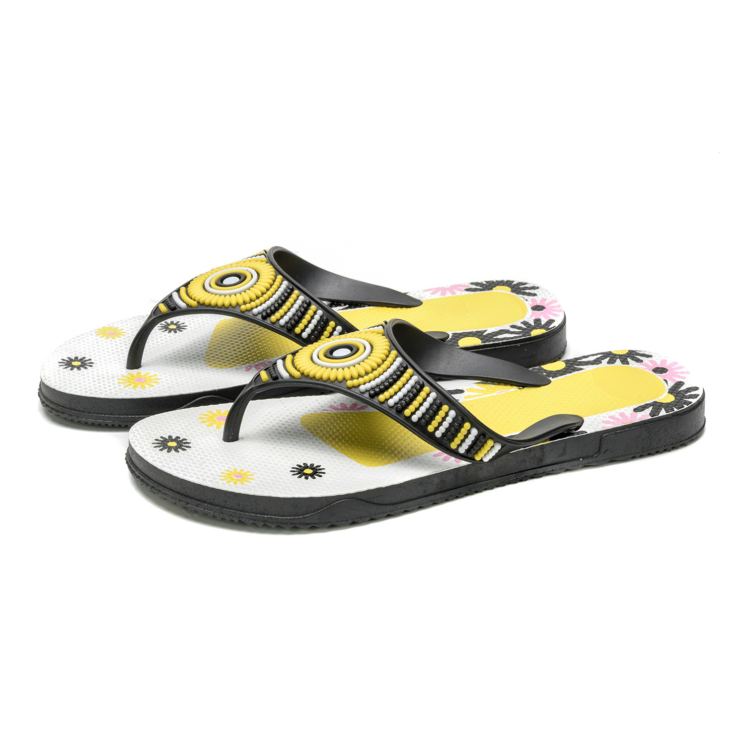 Woman Sandal with New Hot PVC Colorful Strap pictures & photos