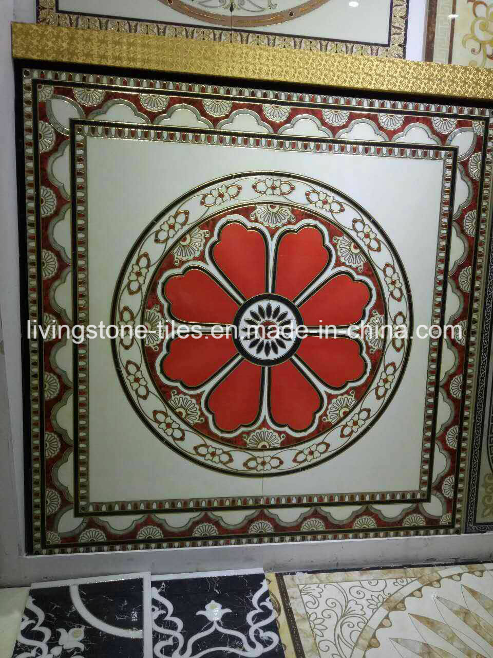China Blue Crystal Carpet Puzzle Floor Tiles In Prayer Room Photos