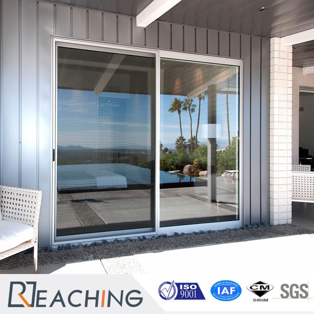 [Hot Item] UPVC/PVC Door Plastic Sliding Door UPVC Glass Door with Fly  Screen