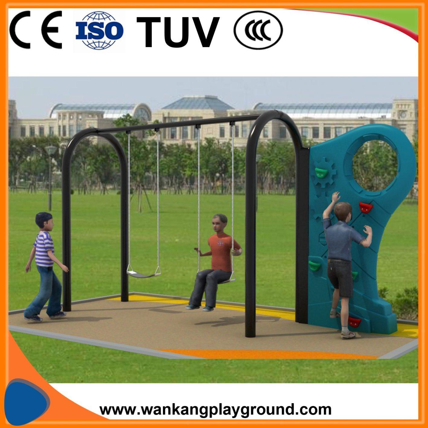 Plastic Climbing Swing Set For Kids Garden (WK XX930)