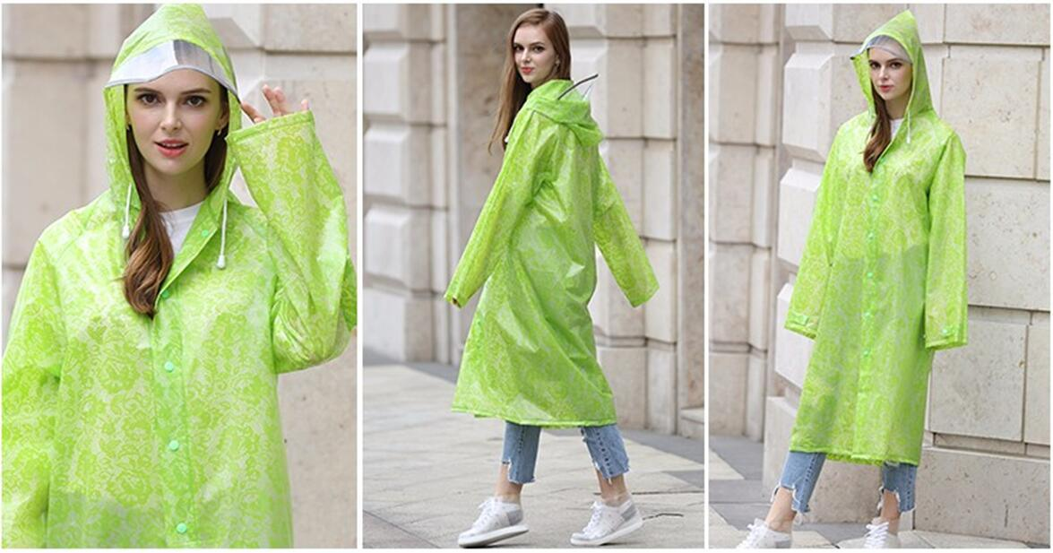 Raincoats Type and Plastic Material PEVA EVA PE Rain Coat Poncho Reusable  Raincoat 5cfd5c2c0337