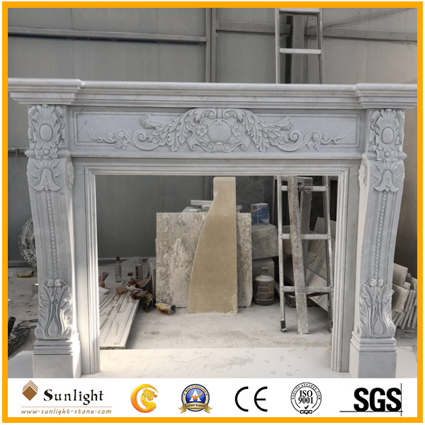 China White Marble Fireplace, Is Marble Good For Fireplace Surround
