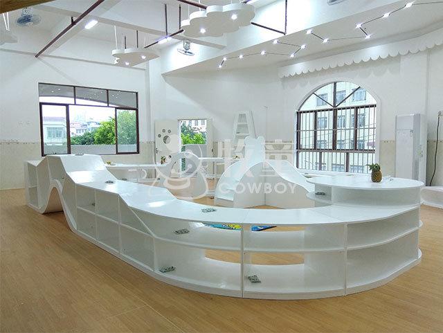 China modern kindergarten children furniture school library room