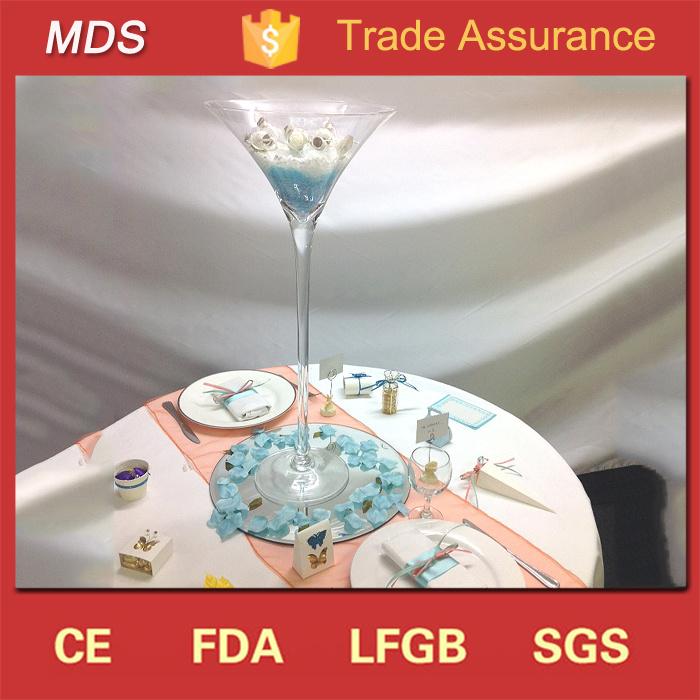 China Wedding Giant Wholesale Martini Glass Vases Centerpieces