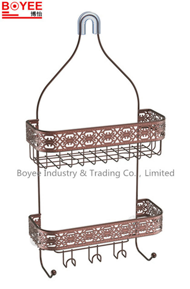 China 2tier Hanging Bathroom Rack/ Shower Caddy/Shampoo Storage ...