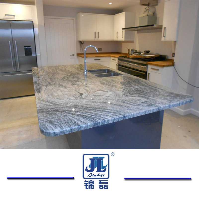 [Hot Item] Natural Polished Viscount White Granite Countertop for Kitchen  and Bathroom