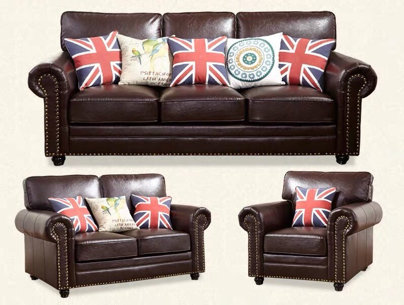 Leather Sofa Furniture Chesterfield