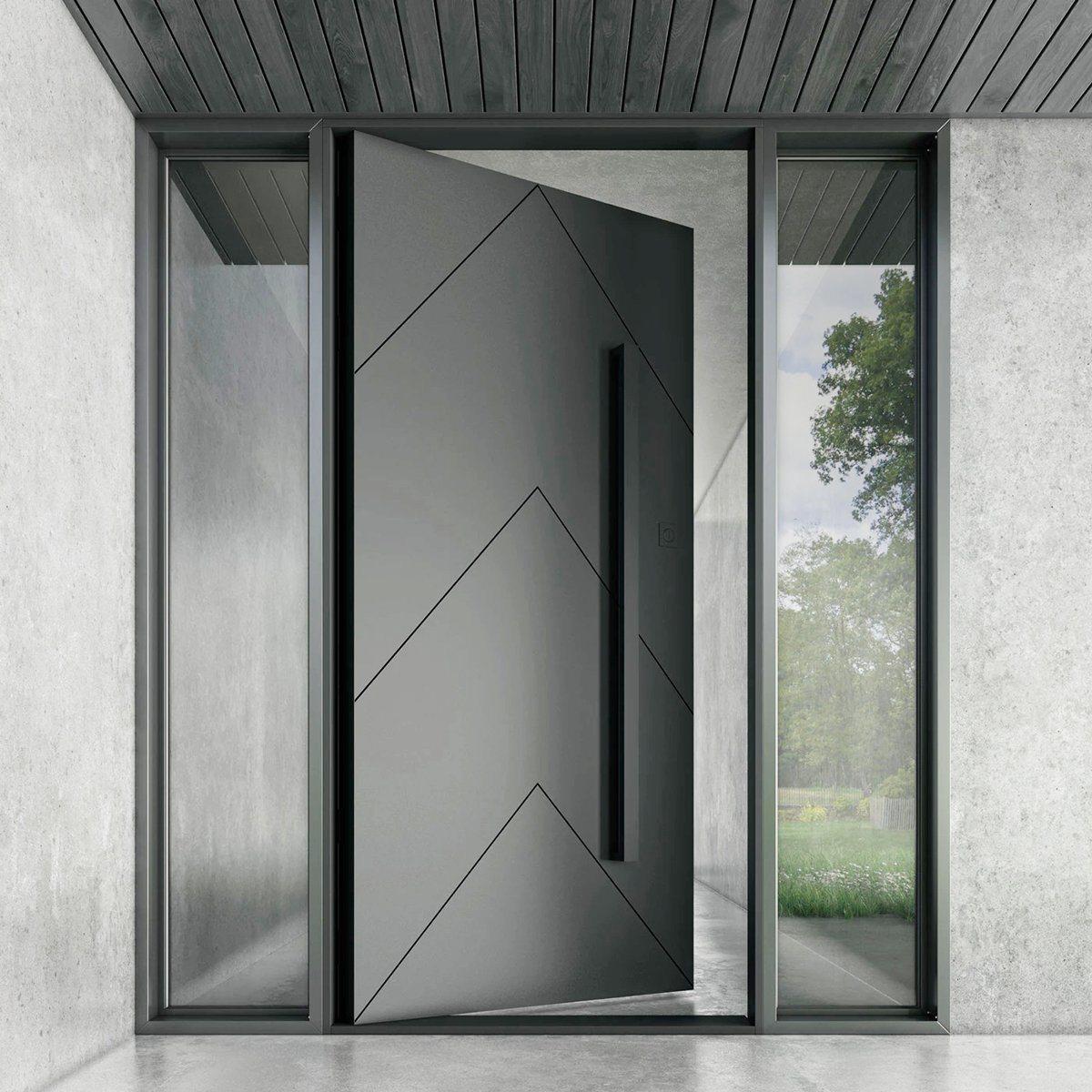 China Modern Front Door Foshan Factory Made Pivot Aluminum Doors China Pivot Aluminum Doors Pivot Door