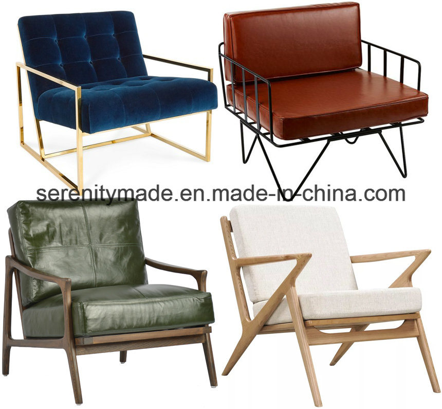 China Furniture Supplier Commercial Leisure Living Room Armrest Chair Lounge