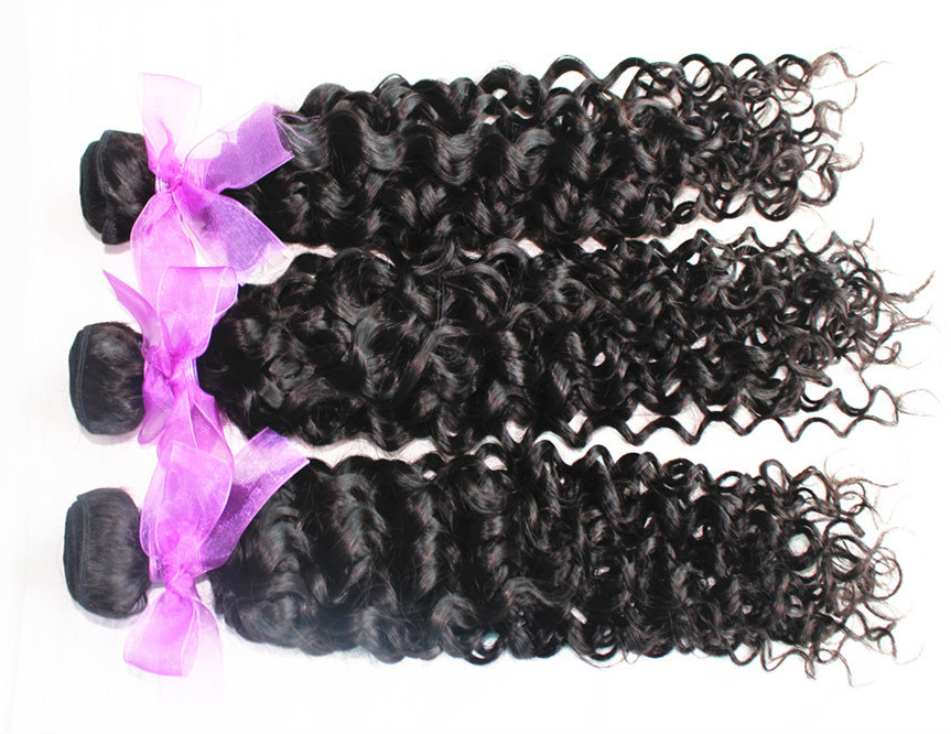 Virgin Human Hair Jerry Curl Natural Color Brazilian Hair Weft