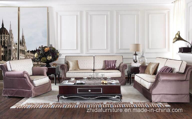 [Hot Item] Modern Elegant Living Room Furniture Sectional Fabric Sofa Set