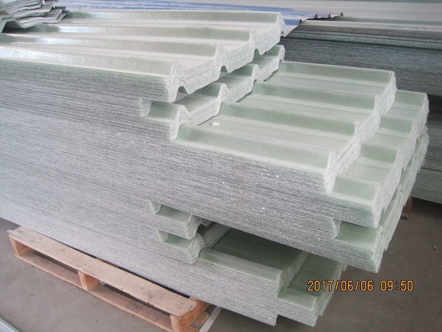 [Hot Item] Glassfiber Reinforced Plastic Corrugated Roof Sheet, GRP  Sunlight Panel